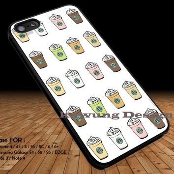 Starbucks Frappuccino Drinks iPhone 6s 6 6s+ 5c 5s Cases Samsung Galaxy s5 s6 Edge+ NOTE 5 4 3 #art DOP2302