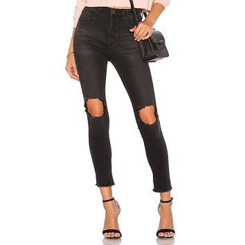 One Teaspoon Freebirds II High Waist Skinny Black Punk