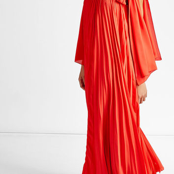 Pleated Crepe Maxi Dress - Elie Saab | WOMEN | US STYLEBOP.COM