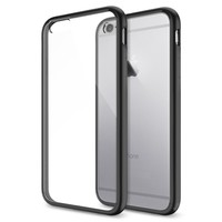 iPhone 6 Case, Spigen® [Ultra Hybrid Series] AIR CUSHION [Black] Air Cushion Technology Bumper Case with Clear Back Panel for iPhone 6 (2014) - Black (SGP10952)