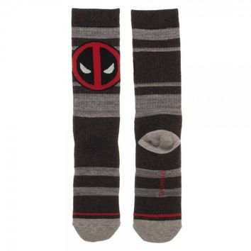 Deadpool Marled Crew Socks