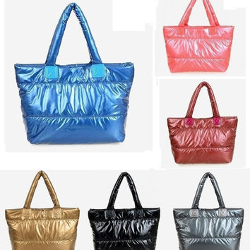 Hottest Women's NEW Jelly Tote bag handbag girls winter padded/quilted shopper bag large