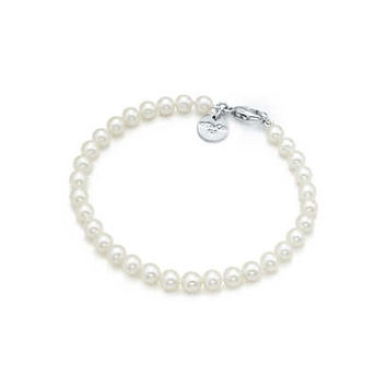Tiffany & Co. - Ziegfeld Collection bracelet of freshwater cultured pearls with a silver clasp.