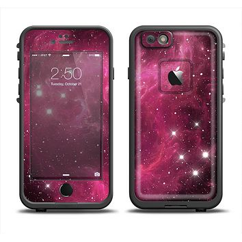The Glowing Pink Nebula Apple iPhone 6 LifeProof Fre Case Skin Set
