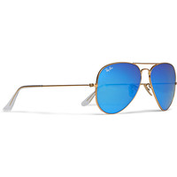 Ray-Ban - Polarised Mirrored Metal Aviator Sunglasses | MR PORTER