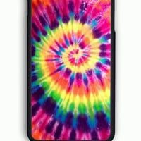 iPhone 6 Case - Rubber (TPU) Cover with Artsy Abstract Hipster Tie Dye Rubber Case Design