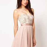 ASOS Lace Bustier With Embellishment at asos.com