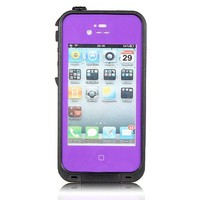 Viva OceanProof Waterproof Dustproof Snowproof Protection Case Cover For Apple iPhone 4 4S (Purple)