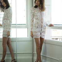 TOPEKA DRESS- WHITE | Stone Cold Fox