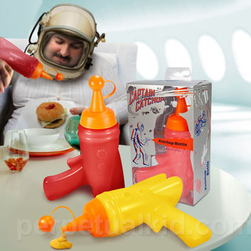 CAPTAIN KETCHUP AND MUSTARD BOTTLE