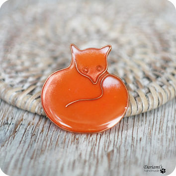 Funny brooch - Red Fox