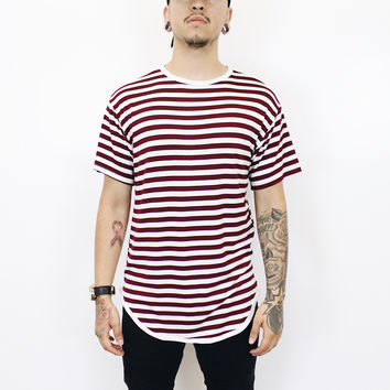 Jerry Stripe T-Shirt (White/Red)
