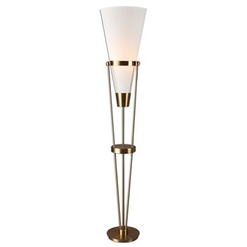 Bergolo Brushed Brass Floor Lamp By Uttermost