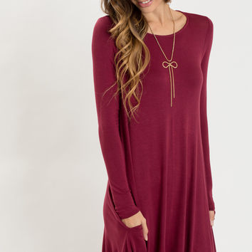 Marla Burgundy Longsleeve Dress