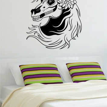 Day of the Dead Horse Sugar Skull Art Decal Sticker Wall Vinyl