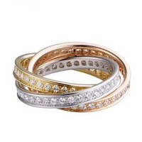 Cartier Fashion New More Diamond High Quality Personality Ring Women