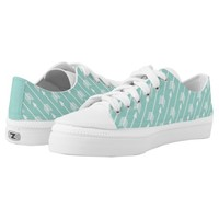 Girly Mint Arrows Pattern Printed Shoes