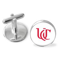 Gifts for men, University of Cincinnati cuff links, groomsmen gift, Bear Cat cufflinks. Available in silver gold and gunmetal. Made in USA