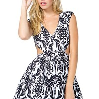 Damask Cut Out Poof Dress
