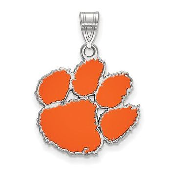 925 Sterling Silver Clemson Tigers Necklace Charm