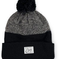 Obey Madison Black Colorblock Beanie