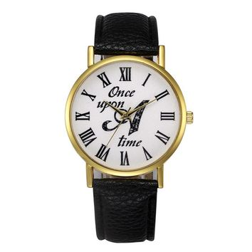 Once upon a Time Women Quartz-watch Women Leather Wrist