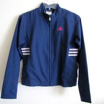 ROYAL ADIDAS JACKET, Vintage Adidas Clothing, Women's Outerwear, Royal Blue, Athletic