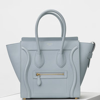 Micro Luggage Handbag in Baby Grained Calfskin