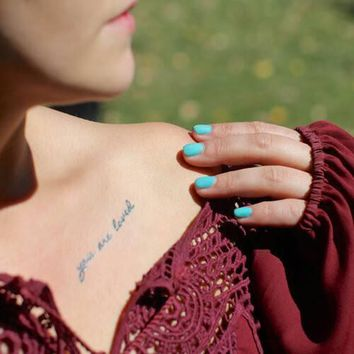 You are Loved Temporary Tattoo