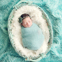 Newborn Photography Props Blanket Faux Fur Basket Stuffe Photo Prop Background Babies Toddler Soft Basket Photo Potografia
