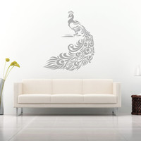 Wall Decal Vinyl Sticker Decals Art Decor Design Peacock Bird Feather Tail Pin Bedroom Style Fashion (r99)