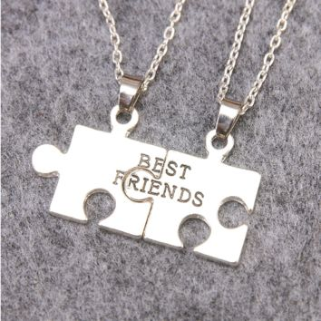 Best Friend Two Half Pendants