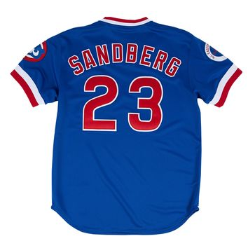 Chicago Cubs Men's Royal Ryne Sandberg Authentic 1984 Road Jersey-Mitchell & Ness