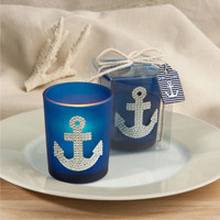 Anchor design nautical candle wedding favors