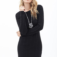 LOVE 21 Cable Knit Sweater Dress