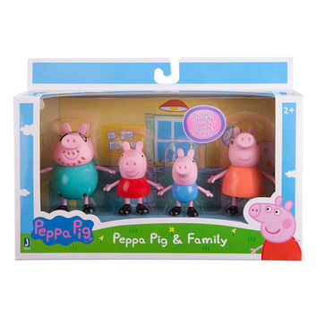 Peppa Pig 3 inch Figure 4 Pack - Family