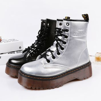 Womens Urban Rugged Platform Boots