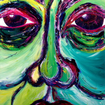 Figure - Colorful Art - Modern Art - Contemporary Art - Figurative Painting - The Face of Betrayal