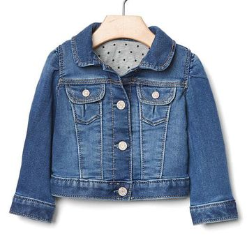 1969 her first denim jacket | Gap