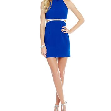 Dear Moon Embellished Cut Out Waist Sheath Dress | Dillards