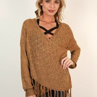 Memories In The Making Wrap Sweater in Copper