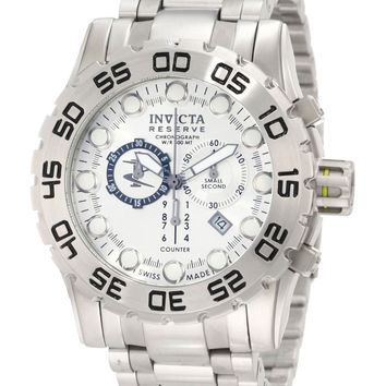 Invicta 0810 Men's Reserve Silver Dial Chronograph SS Swiss Watch
