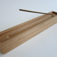 Bamboo Incense Box and Burner (logo optional)