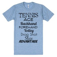 Tennis-Unisex Athletic Blue T-Shirt