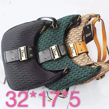 """""""Dior"""" Fashion Letter Embossed Cute Contracted Lock Messenger Bag Women Solid Color Small Square Bag"""