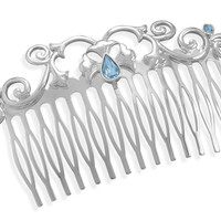 "3"" Silver Plated Fashion Hair Comb"