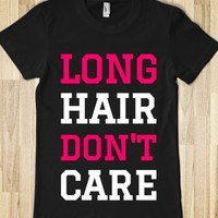 LONG HAIR DON'T CARE T-SHIRT (PINK WHITE ICL02)