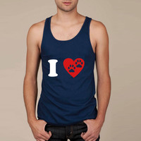 I Heart Paw Print Two Tank Top