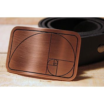 Golden Ratio/ Golden Spiral Belt Buckle