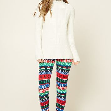 Holiday Print Sweater Leggings